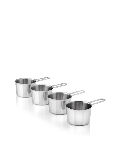 BergHOFF Studio 4-Piece Stainless Steel Cocotte Set, Silver