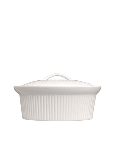 BergHOFF Hotel Line Bianco Oval Covered Casserole, White, 10'' x 12.25''As You See