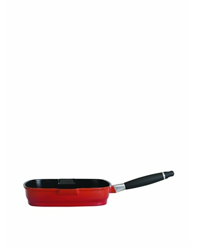 "BergHOFF Virgo 11"" Non-Stick Grill Pan, Red"