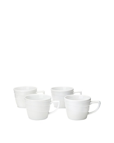 BergHOFF Set Of 4 Hotel Line Espresso Cups, White, 3.25-Oz.