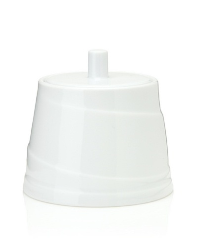 Hotel Line Sugar Bowl with Lid, White