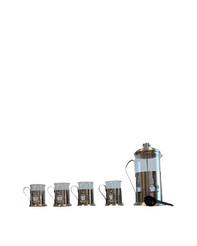 BergHOFF 5-Piece Coffee Press Set, Silver