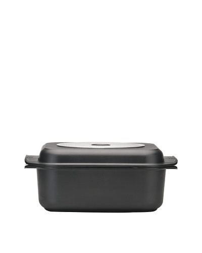 BergHOFF Geminis Covered Roasting Pan, Black, 9-Qt.