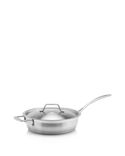 BergHOFF Earthchef Professional Stainless Steel 10-Inch Covered Deep Skillet