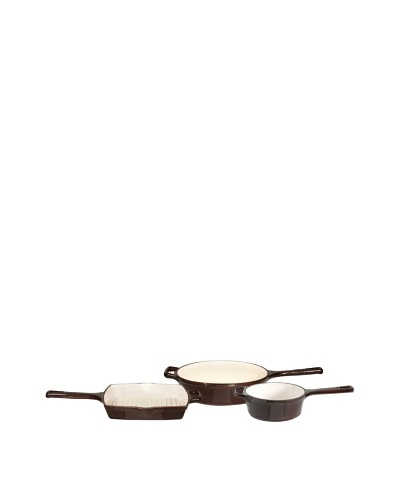 BergHOFF Neo Cast Iron 3-Piece Cookware Set [Brown]