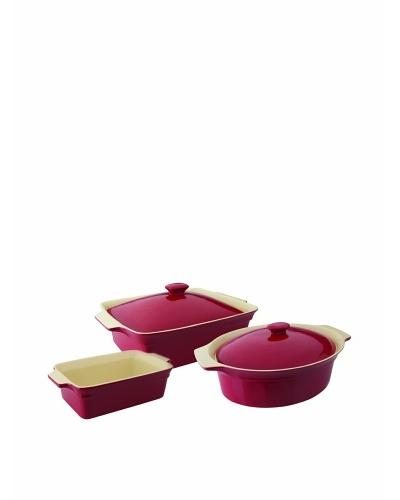 BergHOFF Geminis 5-Piece Bakeware Set, Red