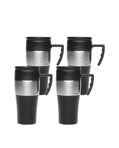 BergHOFF Set of 4 Handled Travel Mugs, Black