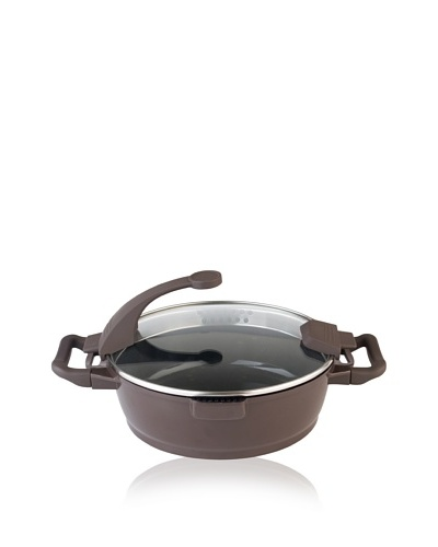 BergHOFF Virgo 4.5-Qt. Covered Deep Skillet, Brown/Black