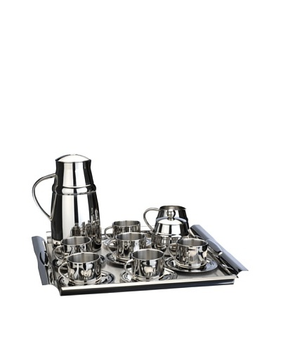 BergHOFF Straight Line 17-Piece Coffee Set, Silver