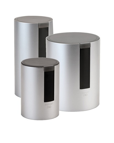BergHOFF Neo 3-Piece Canister Set, Silver/Black