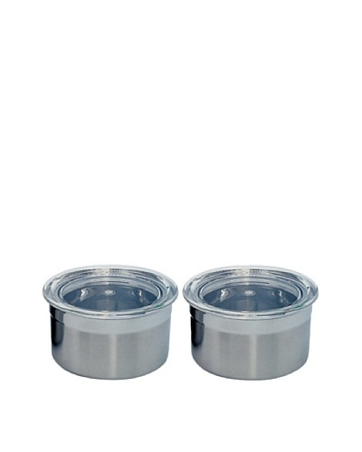 BergHOFF Set of 2 Stainless Steel Mini Canisters, .25-Cup