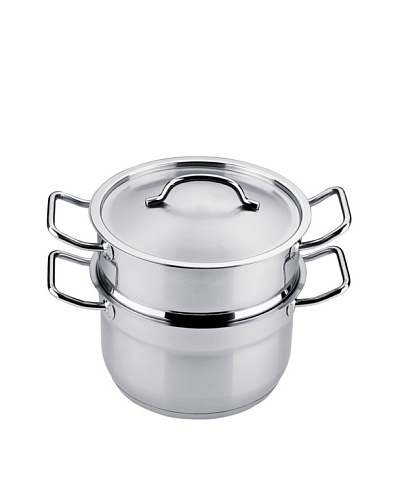 "BergHOFF Hotel Line 8"" Covered Steamer, Silver"