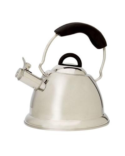 BergHOFF Designo Whistling Tea Kettle, Silver/Black, 12.7-Cup