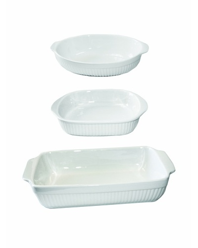 BergHOFF Bianco 3-Piece Baking Set, White