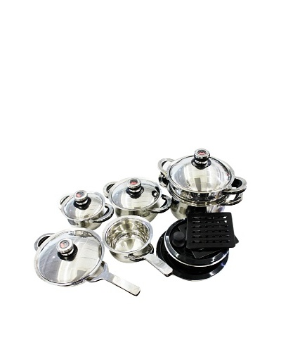 BergHOFF 17-Piece Zurich Swissler Royal Cookware Set, Silver
