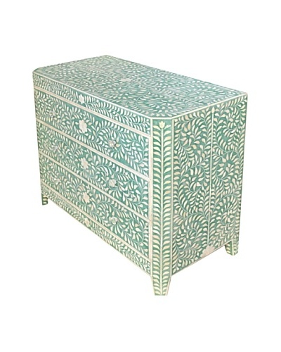 Bethel Bone Inlay 3-Drawer Wide Chest, Green