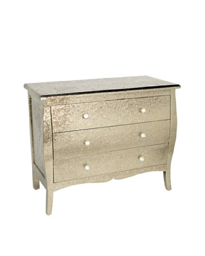 Bethel International Fancy Décor Metal Wooden Chest, Gold