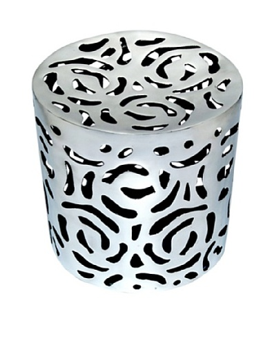 Bethel International Aluminum Cut-Out Stool, Silver