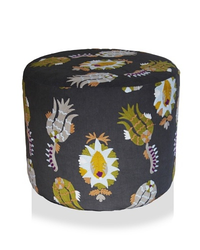 Better Living Collection Pineapple Suzani Round Ottoman