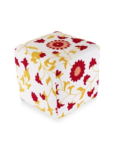 Better Living Collection Suzani Sunflower Square Ottoman
