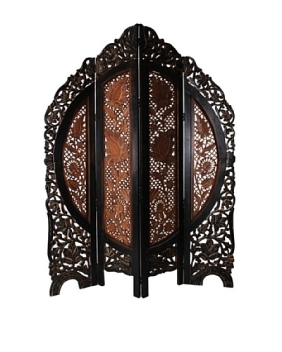 Better Living Hand Carved Avsar Screen, Walnut