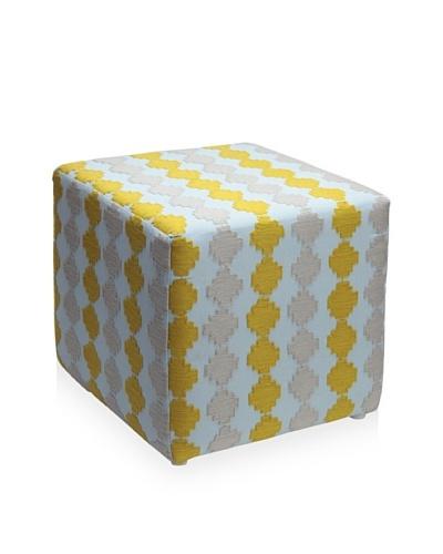 Better Living Collection Checkerboard Suzani Square Ottoman