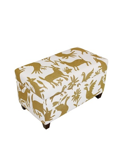 Better Living Collection Otomi Ottoman [Beige/White]