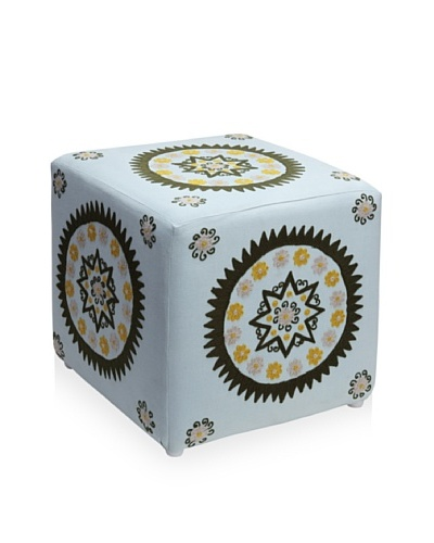 Better Living Collection Medallion Square Ottoman [Cloud]