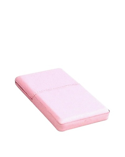 Bey-Berk Leather Business Card Case, Pink