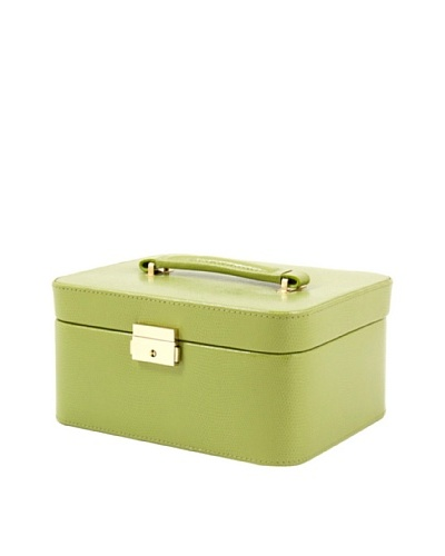 Leather Jewelry Box, Lime Green