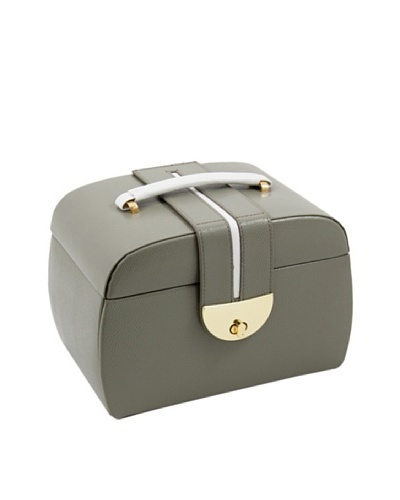 Bey-Berk 3-Level Leather Jewelry Box, Olive