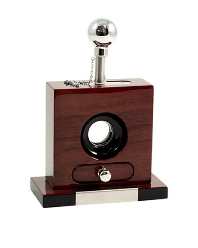 Bey-Berk Tabletop Guillotine Cigar Cutter with Drawer for Cuttings