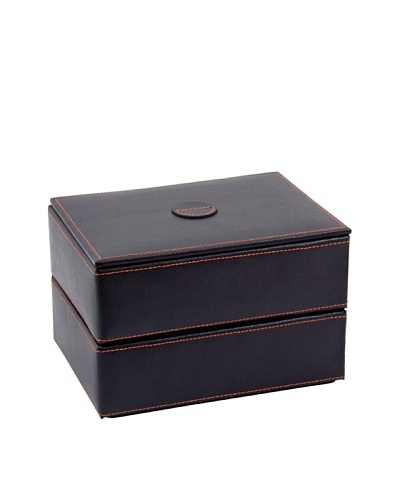 Bey-Berk Stacked Leather Jewelry Box