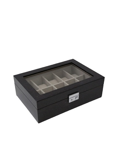 Bey-Berk Steel Grey Lacquered Wood Watch Case