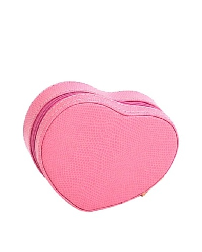 Heart Shaped Travel Jewelry Storage, Pink