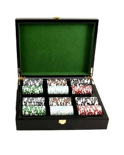 Bey-Berk Inlaid Lacquer Wood Box Poker Set