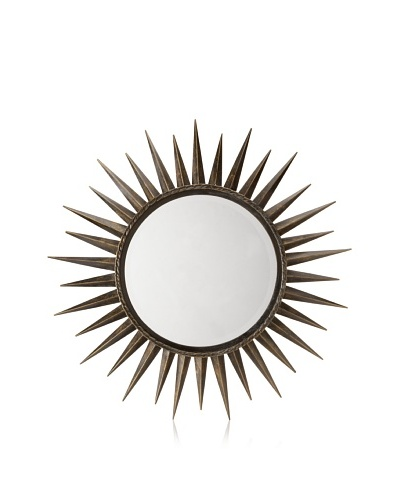 Retro Star Mirror, Aged Gold