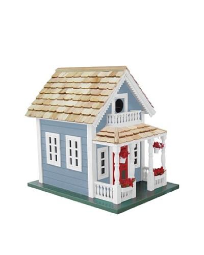 Newburyport Cottage Birdhouse, Blue