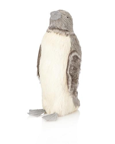 "Arty Penguin Head Up Grey 7 x 6.25 x 17"""