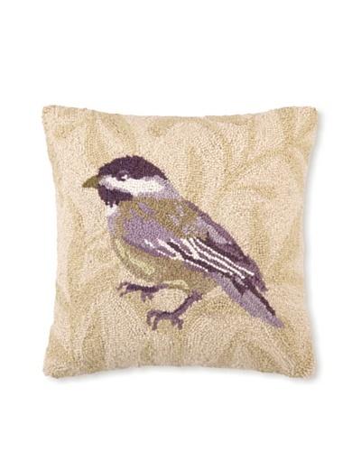 Sally Eckman Roberts Chickadee 16 x 16 Hook Pillow