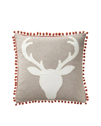 Blissliving Home Oh Deer Pillow, Multi