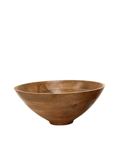 Bliss Studio Agra Wooden Bowl, Large, Natural