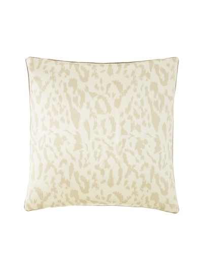 Blissliving Home Paloma Animal-Print Decorative Pillow, Vanilla, 18 x 18