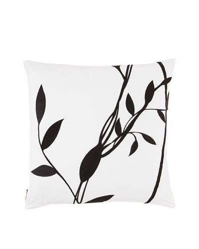 Blissliving Home Manhattan Pillow, Black/ White, 18 x 18