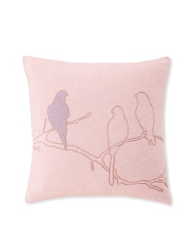 "Blissliving Home Callum Bird Pillow, Pink, 18"" x 18"""