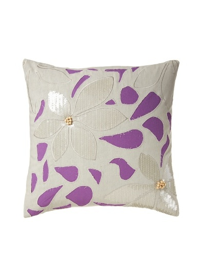 Blissliving Home Mala Pillow, Orchid