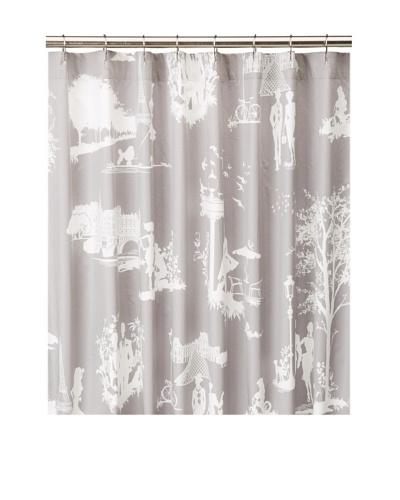 Blissliving Home Madeleine Shower Curtain, Grey, 72 x 72