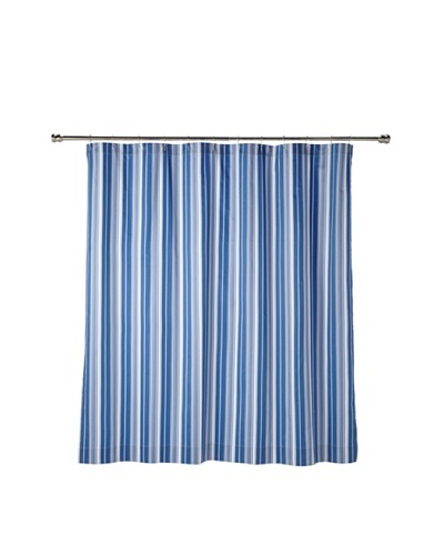Blissliving Home Cynthia Stripe Shower Curtain, Blue/White