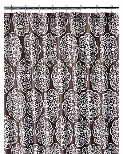 Blissliving Home Harmony Shower Curtain, Storm Grey/White