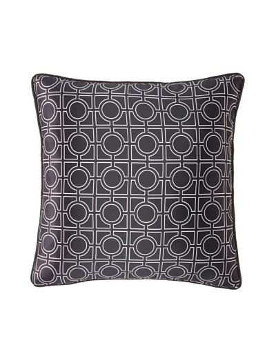 """Blissliving Home Grant Pillow, Black/White, 18"""" x 18"""""""